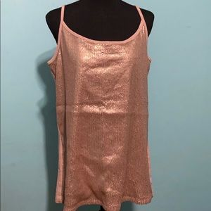 Torrid plus size 2 Rose Gold sequin tank NWOT